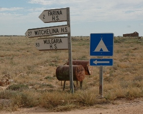 Road sign to Witchelina
